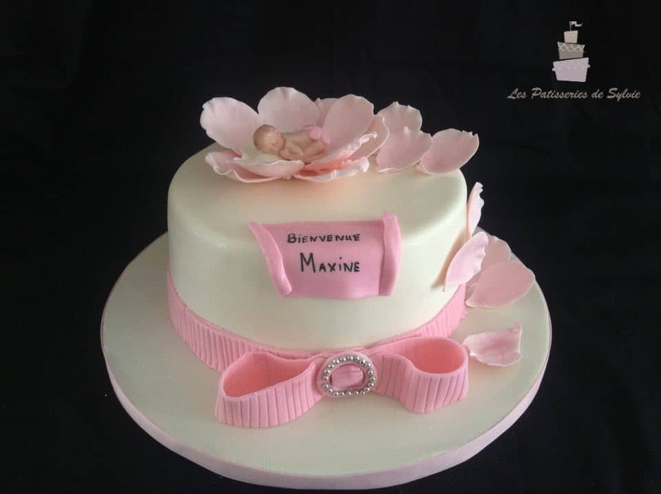 Decoration Gateau Bapteme Fille